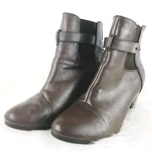 Breckelles Faux Leather Ankle Boots